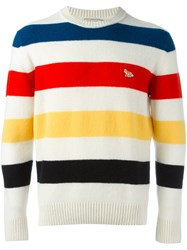 Maison Kitsune Striped Jumper Multicolour