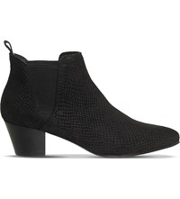 Office Coolcat Leather Chelsea Boots Black Snake Suede