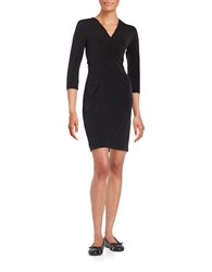 Karl Lagerfeld Draped Knit Jersey Dress Black