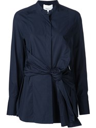 3.1 Phillip Lim Knot Detail Shirt Blue