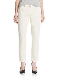 Ag Adriano Goldschmied Skinny Ankle Length Jeans Off White