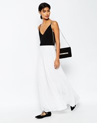 Asos Pleated Maxi Skirt White