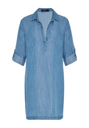 Hallhuber Denim Long Tunic Blue