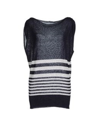 Hope Collection Sleeveless Sweaters Light Grey