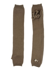 Scee By Twin Set Gloves Khaki