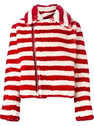Each X Other Striped Zip Jacket White
