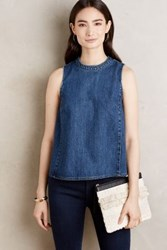 Anthropologie Denim Swing Tank Dark Denim