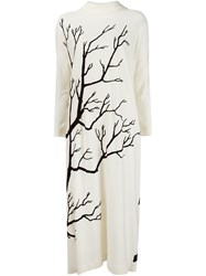 Veronique Branquinho Tree Print Dress White