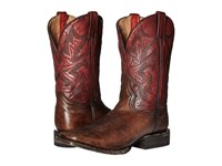 Stetson 11 Double Welt Wide Square Toe Antique Honey Cow Leather Vintage Red Cowboy Boots Brown