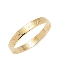 Kate Spade Idiom Bangles Engraved Goldtone Bangle Bracelet