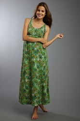 Bedhead Green Peacock Stretch Long Gown
