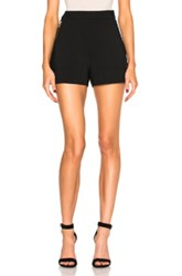 Stella Mccartney Double Face Shorts In Black