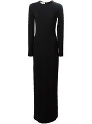 Stella Mccartney Embroidered Lace Detail Gown Black