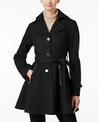 Inc International Concepts Belted Skirted Peacoat Only At Macy's Black