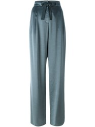 Etro Bow Front Palazzo Trousers Green