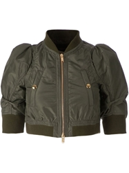 Undercover Cropped Bomber Jacket Green