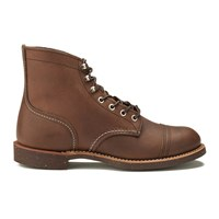 Red Wing Shoes Men's 6 Inch Iron Ranger Toe Cap Leather Lace Up Boots Amber Harness Tan
