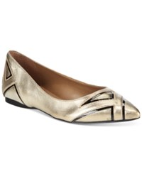 French Sole Fs Ny Quiver Contrast Flats Women's Shoes Platino Metallic Black