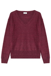 Closed Pullover With Wool Red