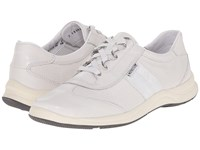 Mephisto Laser Perfore Fog Cigale White Fashion Women's Lace Up Casual Shoes