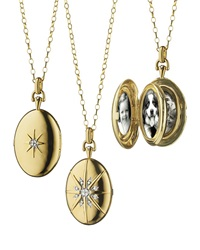 18K Gold Diamond Star Locket Necklace Monica Rich Kosann