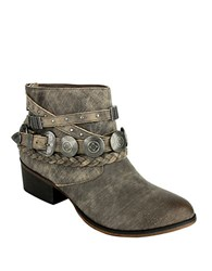 Naughty Monkey Anchorage Leather Ankle Boots Taupe