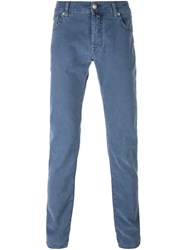 Jacob Cohen Straight Casual Trousers Blue