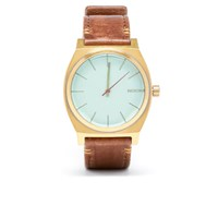 Nixon The Time Teller Watch Brass Green Crystal Brown