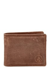 Volcom Prime Leather Wallet Brown