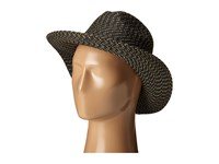 San Diego Hat Company Ubm4449 Panama Fedora Hat With Metallic Yarns Black Gold Fedora Hats