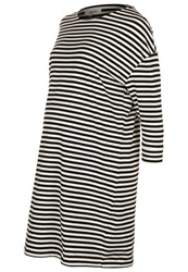 Zalando Essentials Jersey Dress Off White Black Off White