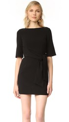 Alice Olivia Virgil Wrap Dress Black