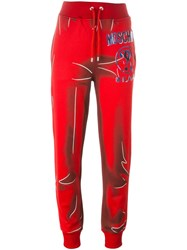 Moschino Trompe L'oeil Logo Trackpants Red