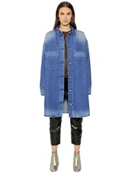 Maison Martin Margiela Stone Washed Cotton Denim Duster Coat