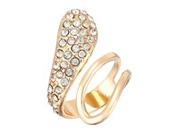 Guess Half Open Half Pave Bypass Ring Gold Crystal Ring