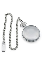 Cathy's Concepts Silver Plate Personalized Pocket Watch Plain