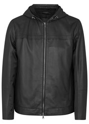 Vince Black Panelled Leather Jacket
