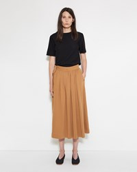 Christophe Lemaire Jersey Wrap Over Skirt Tobacco