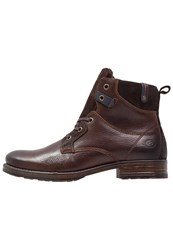Dockers By Gerli Laceup Boots Schoko Brown