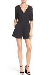 French Connection Women's 'Beau' Scalloped Romper