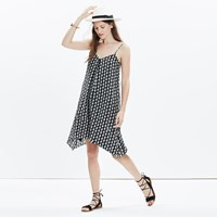 Madewell Silk Trapeze Cami Dress In Bloomstamp