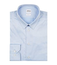 Armani Collezioni Slim Stretch Cotton Shirt Male Light Blue