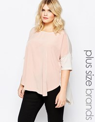 Junarose Mix Shortsleeve Top Pink