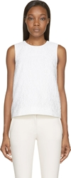 Mary Katrantzou White Alphabet Jacquard Sleeveless Top