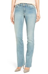 Women's Nydj 'Billie' Stretch Mini Bootcut Jeans Mykonos
