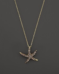 Kc Designs Champagne Diamond Starfish Pendant Necklace In 14K Yellow Gold 16 Gold Brown