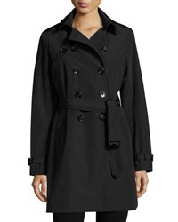 Jane Post Belted Tech Fabric Trenchcoat Black