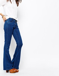 Only Royal Skinny Flared Jeans Blue