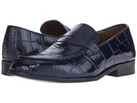 Stacy Adams Corsica Dark Blue Men's Lace Up Moc Toe Shoes
