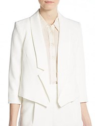 Milly Cady Stretch Cropped Blazer White